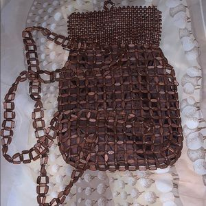 Wooden back pack/handbag